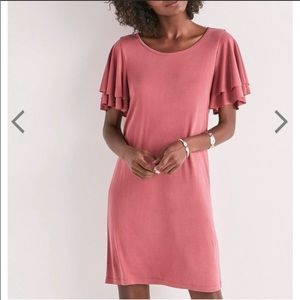 Lucky Brand | Sandwash Ruffle Sleeve Tee Dress